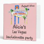 Rosa del libro del fiesta de Las Vegas Bachelorett
