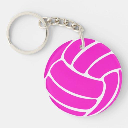 Rosa del llavero w/Name del voleibol