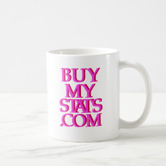 rosa del logotipo de BuyMyStats.com 3D con la Taza De Café