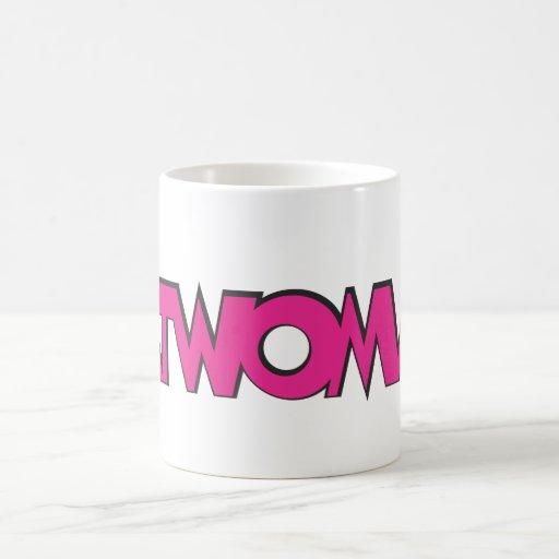 Rosa del logotipo del Catwoman Tazas De Café