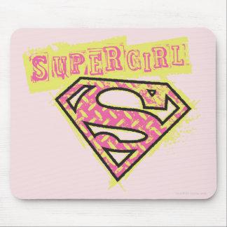 Rosa del logotipo del Grunge de Supergirl Alfombrilla De Ratones
