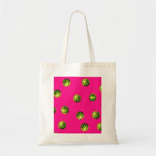 rosa del modelo de la sandía bolsas de mano