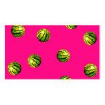 rosa del modelo de la sandía tarjetas de visita
