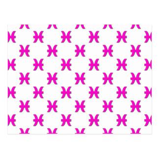 Rosa del modelo de Piscis Tarjeta Postal