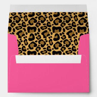 Rosa del modelo del leopardo sobres
