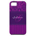 Rosa del monograma, ambiente púrpura del iPhone 5  iPhone 5 Coberturas