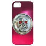 Rosa del MONOGRAMA de los JINETES del CRÁNEO iPhone 5 Case-Mate Protector