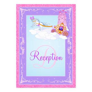 Rosa del monograma tarjeta púrpura del recinto de