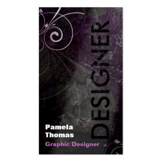 Rosa del negro de la tarjeta de visita del diseñad