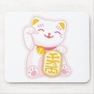 rosa del neko del maneki alfombrillas de ratón