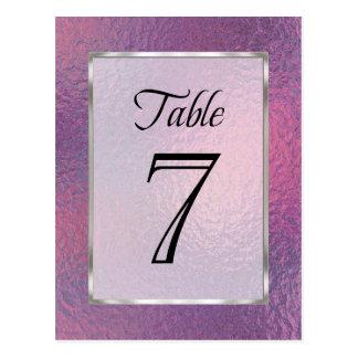 Rosa del número de la tabla y falsa hoja púrpura postal