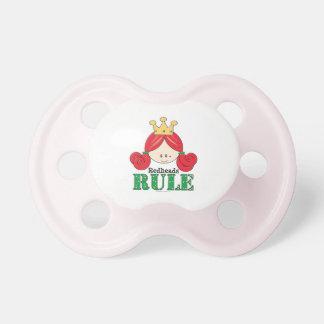 Rosa del pacificador de la regla de los Redheads Chupetes Para Bebés