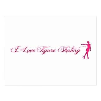 Rosa del patinaje artístico (amor de I)/patinador Postal