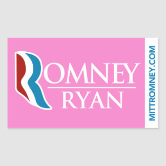 Rosa del pegatina del logotipo de Romney Ryan