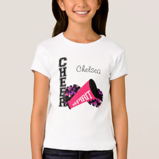 Rosa del personalizable de la animadora camisas