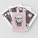 Rosa del póker del comodín cartas de juego