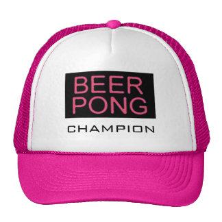 Rosa del Pong-Campeón de la cerveza Gorros