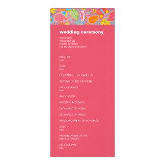 Rosa del programa del boda de Ganesh Invitación 10,1 X 23,5 Cm