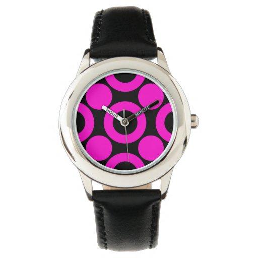Rosa del punto 3 reloj