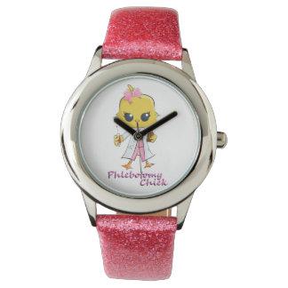 Rosa del reloj del polluelo de la flebotomía