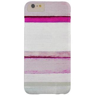 """""""Rosa del sueño de belleza"""" y arte abstracto gris Funda De iPhone 6 Plus Barely There"""
