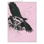 Rosa del superhombre con el pájaro felicitacion