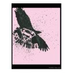 Rosa del superhombre con el pájaro postales