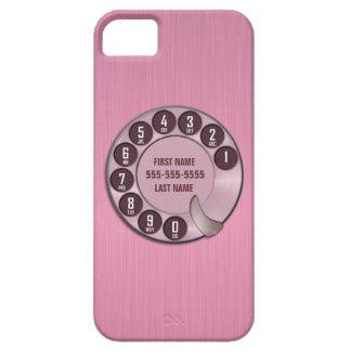 Rosa del teléfono de dial rotatorio de la escuela funda para iPhone 5 barely there