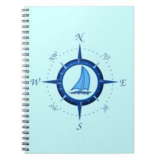 Rosa del velero y de compás notebook