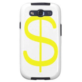 Rosa del verde amarillo del dólar Sign$ Galaxy SIII Protector