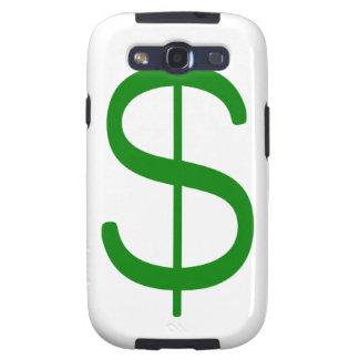 Rosa del verde amarillo del dólar Sign$ Samsung Galaxy S3 Coberturas