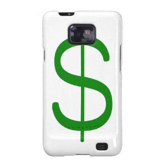 Rosa del verde amarillo del dólar Sign$ Galaxy S2 Funda