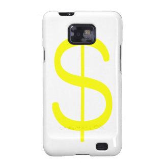 Rosa del verde amarillo del dólar Sign$ Samsung Galaxy S2 Carcasa