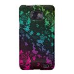 Rosa del verde de la galaxia de Samsung del cordón Galaxy SII Carcasas