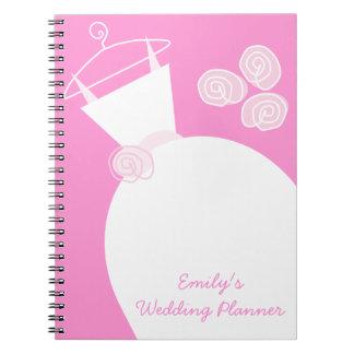 Rosa del vestido de boda 'que casa Planner Cuadernos