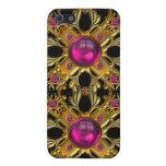 Rosa del vintage e imagen de las joyas del oro iPhone 5 cárcasa