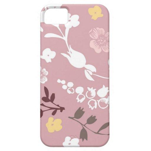Rosa del vintage y estampado de flores romántico funda para iPhone SE/5/5s