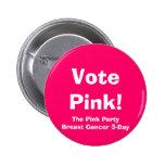 ¡Rosa del voto! , El cáncer rosado de PartyBreast  Pins