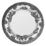 rosa delicado del vintage de la placa clásica de l platos de comidas