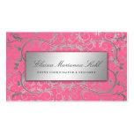 Rosa delicioso divino de plata 311 tarjetas de visita