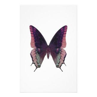 Rosa detallado de la mariposa papelería