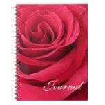 Rosa-Diario rojo Libreta Espiral