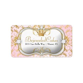 Rosa divino de oro de 311 Ciao Bella Etiqueta De Dirección