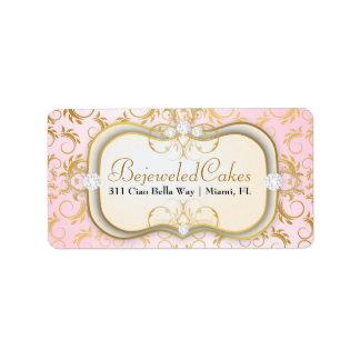 Rosa divino de oro poner crema de 311 Ciao Bella Etiqueta De Dirección