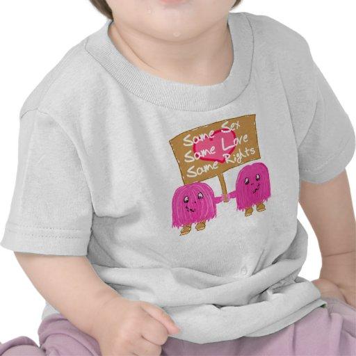 Rosa dos el mismo amor camiseta