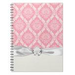 rosa dos y damasco elegante poner crema libros de apuntes con espiral