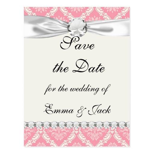 rosa dos y damasco elegante poner crema tarjetas postales