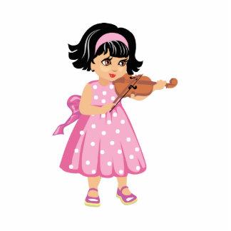 rosa dress.png de la chica joven del jugador del v escultura fotografica