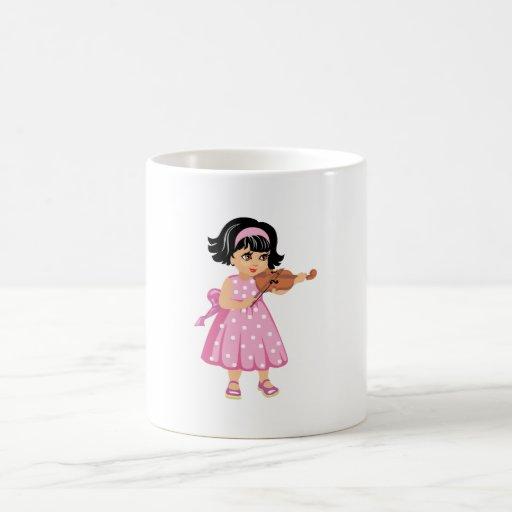 rosa dress.png de la chica joven del jugador del v taza