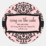 Rosa dulce de la guinda del pastel 311 etiquetas redondas